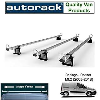 Autorack WorkReady Van Roof Rack Bars for - PEUGEOT PARTNER (2009-to-2018 Model Range) - 3 BARS