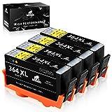 IKONG 364XL Compatible Cartouche HP 364 HP 364 XL, Haut Rendement, 4 Noir, Travailler...