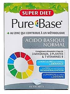 Super diet - Pure base acido basique normal - 15 sachets - Le complexe naturel drainant, reminéralis