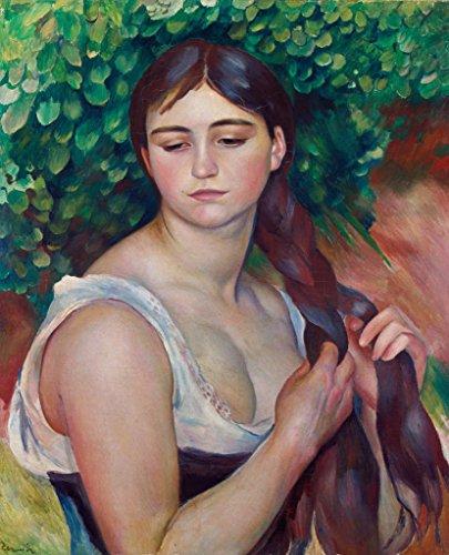Kunstdruck/Poster: Pierre Auguste Renoir Der Zopf - hochwertiger Druck, Bild, Kunstposter, 65x80 cm