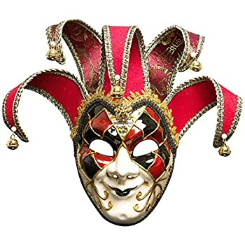 Lannakind Masque v/énitien Volto Femme Carnaval Masque de Balle Mural