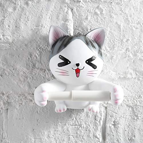 WEN PING Toilettenpapierhalter Toilettenpapierhalter Kreative Katze Badezimmer Toilette Toilettenhygiene Tray Free Punching Hygienic Carton Tissue Box Rollenpapier Tube Rack
