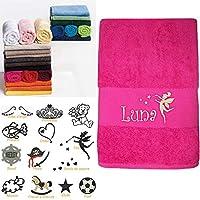 Serviette bébé enfant Personnalisée prénom, 3 tailles 16 coloris 13 motifs au choix, 450gr/m2, cadeau anniversaire, cadeau personnalisé, cadeau naissance, cadeau noël