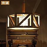 GQLB Massivholz Kronleuchter Baumstämmen Lampen, 600 mm/5W-LED
