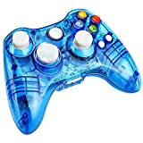Prous Xbox 360 Controller XW21 Wireless PC Gamepad LED Controller Transparent Joystick für Xbox 360/PC - Blau (Drittanbieter Produkt)