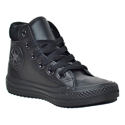 Converse Chuck Taylor All Star Weatherized Junior Black Leather Ankle Boots Noir/gris