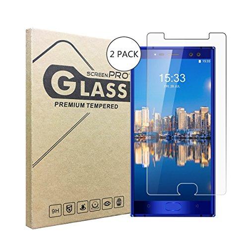 HooXi 2 Stück Panzerglasfolie Tempered Glass Hartglas Schutzfolie für Oukitel K3,0.3mm clear 2.5D 9H Hardness aus gehärtetem Glas Ultra Clear Panzerglas Transparent Folie für Oukitel K3