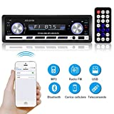 YOHOOLYO Autoradio Bluetooth Auto Stereo Audio Ricevitore In Dash Radio FM MP3 MP4 MP5 Player Aux SD Card USB con telecomando
