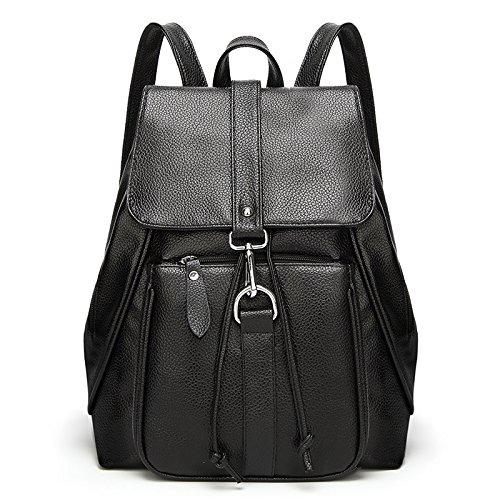 Mefly La Nuova Scuola Di Moda Borse Di Vento Semplice Nero black