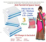 #9: Pack of 3 ( Medium, Large and Jumbo ) Space Saver Anti Tarnish Bags - Corrosion Protection Strong Lock.