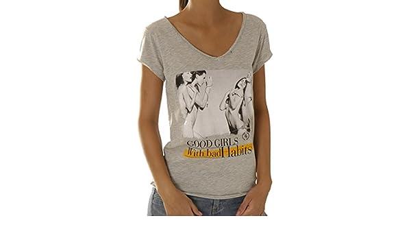 5cf3be886f8 Boom bap t-shirt pour femme - 0090 wcv wcv - 0090-habits - Gris - Large   Amazon.fr  Vêtements et accessoires