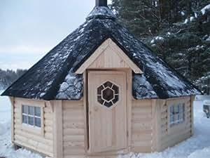 SGK165 Kombi Sauna- & Grillkota - Deluxe mit 16,5m² Grundfläche