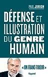 Défense et illustration du genre humain par Jorion