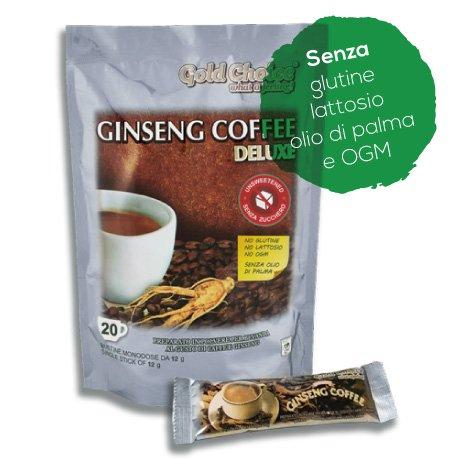 Ginseng Coffee Deluxe - Löslicher Kaffee mit Ginseng OHNE ZUCKER - 20 Sticks à 12g