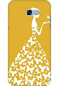 AMEZ designer printed 3d premium high quality back case cover for Samsung Galaxy A7 (2017) (yellow dark white girl princess)