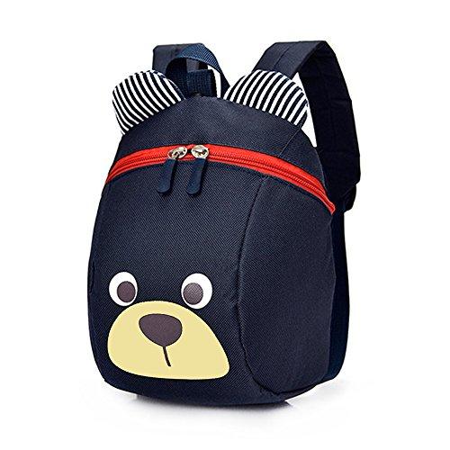 Kinderrucksack WINGMO Anti verloren Kinder Rucksack Mini Bär Schule Tasche für Baby Jungen Mädchen Kleinkinder 1-3 Jahre (Navy blau)