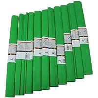 Staufen 617155 - Krepppapier 10 Rollen 50 x 250 cm gelbgrün