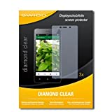 SWIDO 3 x Schutzfolie Oppo Joy 3 Displayschutz Folie DiamondClear unsichtbar