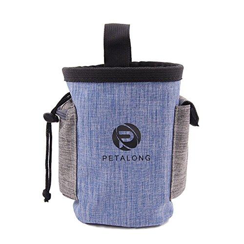 BOENTA Hundetrainingstasche Hundegeschirr Tasche Carry Snack Ausrüstung Taschen mit Poop Bag Halter und Verstellbarer Gürtel zum Wandern