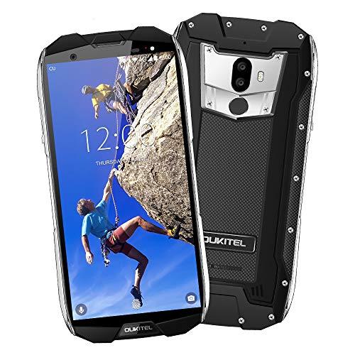 Outdoor Handy-OUKITEL WP5000 4G LTE Ohne Vertrag Smartphone,6GB RAM+64GB ROM,5,7 Zoll 18: 9 FHD+,Android 7.1(IP68 Wasserdicht, Staubdicht, Stoßfest) Helio P25 Octa-core handy,16MP + 5MP Hintere Dual-Kameras,8MP Frontkamera ,Dual SIM,5200 mAh,GPS,Fingerabdruck Sensor. (schwarz)