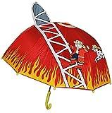 3-D Feuerwehr Schirm Kinderschirm Kinder Stockschirm Regenschirm Auto