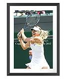 Maria Sharapova Tennis de Wimbledon Grand encadrée de haute qualité photo Special Edition, Black Frame - White Mount, 21.9 inches x 30.3 inches - 55.8cm x 77.2cm