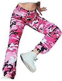 971cccc24020 Shujin Damen Mode Camouflage Muster Hose Hohe Taille Sporthose Baggy Hose  Boyfriend Freizeithose