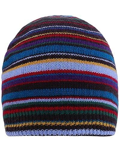 Paul Smith Herren Kaschmir blend gestreifte Mütze Hut Multi-gefärbt Ein Größe