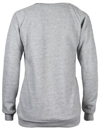 Fast fashion sweat-shirt pour femme geek brooklyn boy cocaine pression Grey - Boy - Grau
