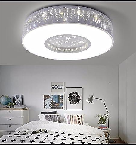 DIDIDD Kinderzimmer deckenleuchte led-leuchten schlafzimmer lampe warme minimalistische kreative lampe,40cm einzelnes weißes hellblaues Feld