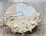 Ringkissen Hochzeit Baumscheibe Holzscheibe Alternative Ringträgerkissen für Eheringe
