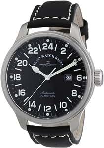 Zeno Watch Basel - 8563-24-a1 - Montre Homme - Automatique - Analogique - Bracelet Cuir Noir