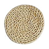Blancho Set von 5 Rattan Coasters Corn Fur Rattan Tischset, Natural Colour