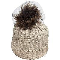 Amazon.it  cappello con pon pon - Bambine e ragazze   Abbigliamento ... fc7b26ddfb41