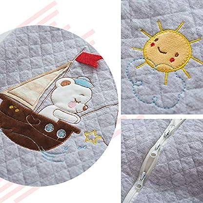 schlabigu Saco de Dormir para bebé, para Todo el año, de algodón, para niños y niñas, con Forro Interior – Barco. Pink – Boot Talla:90CM/6-18monate