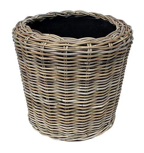Outdoor Patio Planters (van der Leeden rdvspgry39Geflecht Dry Topf Vase Übertopf,Beige)
