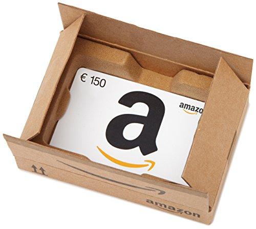 Amazon.de Geschenkkarte in Geschenkbox - 150 EUR (Lächeln)