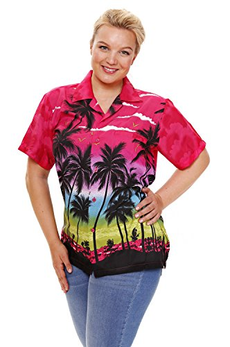 Funky Hawaiibluse, Beach, pink, (Day Paddy's Kostüme St)