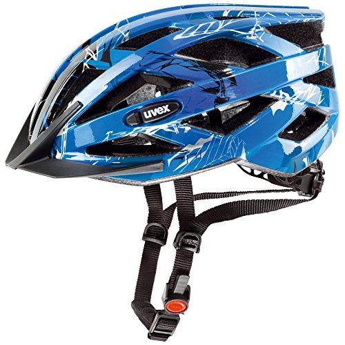 Uvex Fahrradhelm i-vo C, Blue/Dark Silver, 56-60 cm, 4104170217
