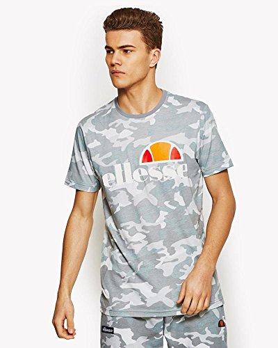 Ellesse Prado–Maglietta uomo, UOMO, SHW01147, grigio camouflage, XXL