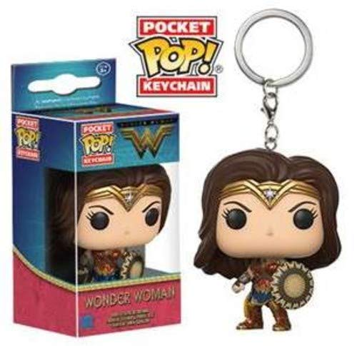 Funko-13346 Movie Pocket Keychain: Wonder Woman 13346