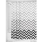 InterDesign Ombre Chevron Fabric Shower Curtain, 183 x 183 cm - Gray Multi - Best Reviews Guide