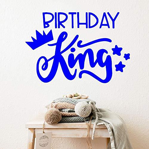 Ajcwhml Birthday King Vinyl Wandaufkleber Wohnkultur Aufkleber Wandtattoo Wohnkultur Zubehör 15cm X 22cm -