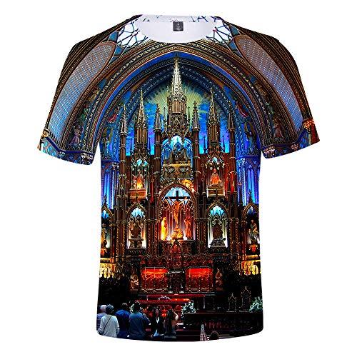 T-Shirt Neue Herrenbekleidung Mode Neue Herren Druck Mode Herrentrend Casual Kurzarm Church TM -
