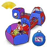YOOBE 5 Piezas niños Jugar Carpas túnel de rastreo y Ball Pit Popup Bounce Playhouse Tienda con aro de Baloncesto para Uso Interior y Exterior con Estuche
