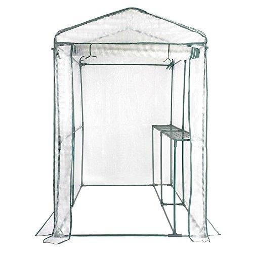 casa pura® Gewächshaus Thalia   mit 2 Regalböden   Foliengewächshaus für Tomaten und andere schutzbedürftige Pflanzen   inkl. Bodenankern   186 x 122 x 190 cm