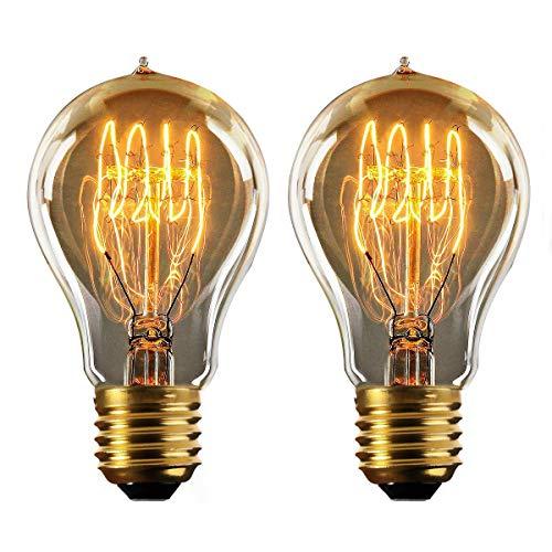 Retro-modernen Geräten (vLoft Edison Glühbirne e27, 60w vintage Dimmbar retro fassung, Warmweiß (2 Stück))