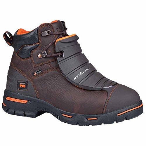 Timberland PRO Men s 6  Endurance Steel Toe Work Boot Brown Full Grain Leather U
