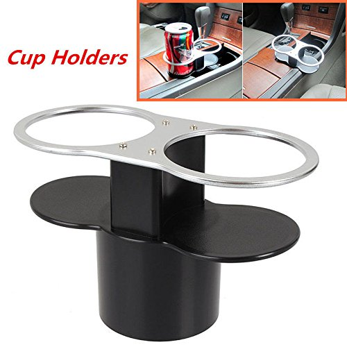 AST Works Car Seat Seam Wedge Drink Dual Cup Holders Travel Drink Stand Storage for Benz