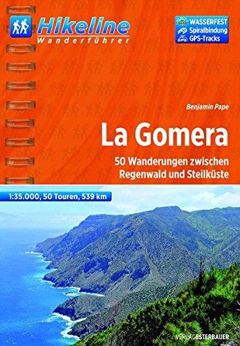 Hikeline Wanderführer La Gomera, 50 Wanderungen zwischen Regenwald und Steilküste, 1 : 35.000, 539 km, wasserfest und reißfest, GPS Tracks zum Download - Frühjahr Lesebrille